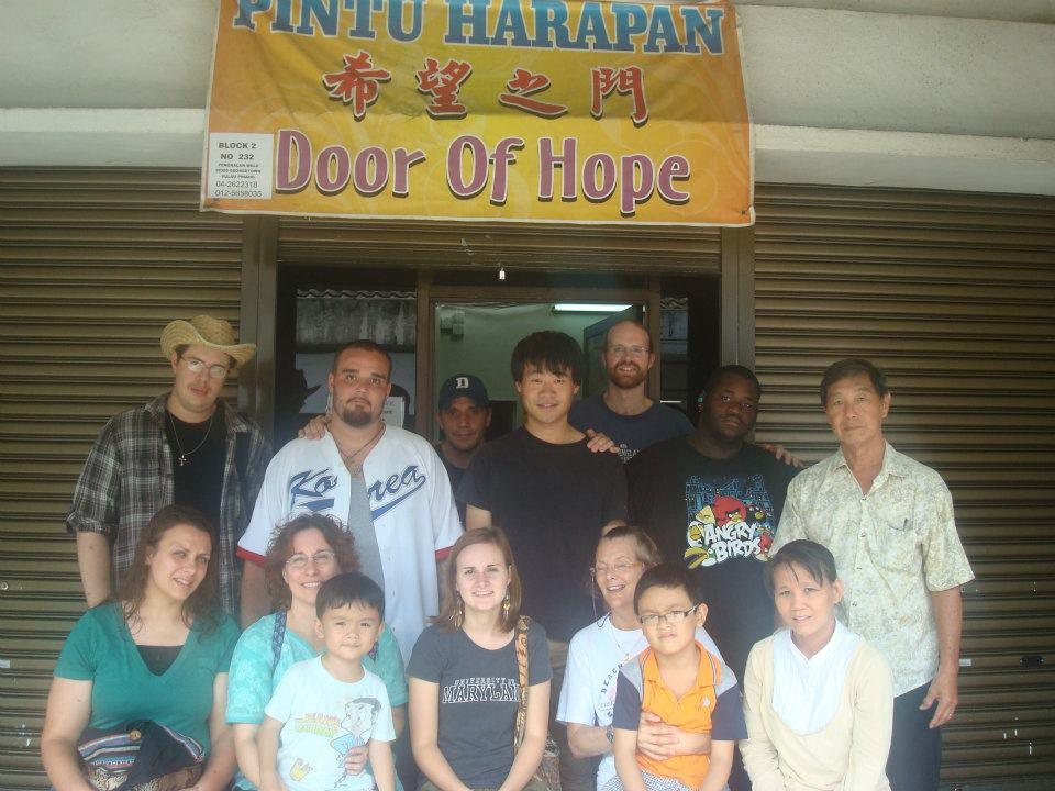 DTS Outreach Team working at a church in Malaysia